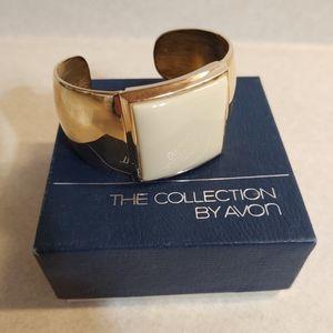 Bangle Cuff Bracelet Gold & Cream